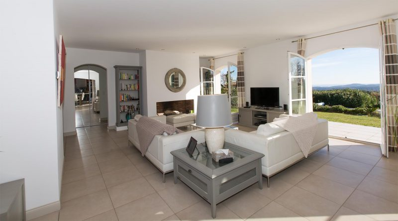 Villa Constantins sitting room