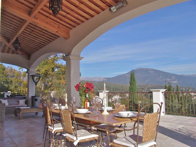 Villa La Menuse terrace & View